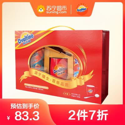 阿華田可可粉早餐 下午茶 精美年貨禮盒 400g袋裝+400g聽裝 禮盒裝800g附贈杯勺