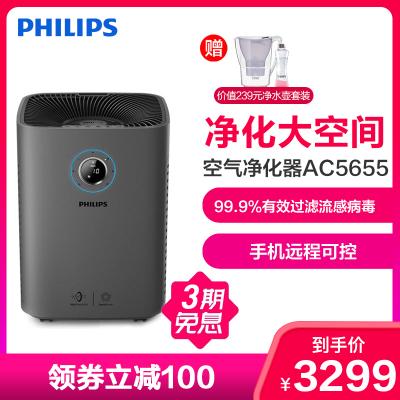 飛利浦(Philips)空氣凈化器AC5655/00 家用臥室辦公室除甲醛除霧霾PM2.5除煙除菌除病毒