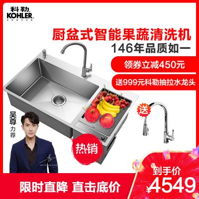 科勒廚盆式智能果蔬清洗機水槽式食物凈洗機果蔬凈食機23713T