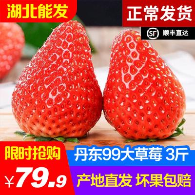 丹東99紅顏草莓 3斤 奶油草莓 生鮮水果 冷藏國產漿果類 陳小四水果 新鮮水果