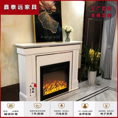 蘇寧放心購美式壁爐裝飾柜意式實木走廊過道玄關現代簡約輕奢家用取暖壁爐架簡約新款