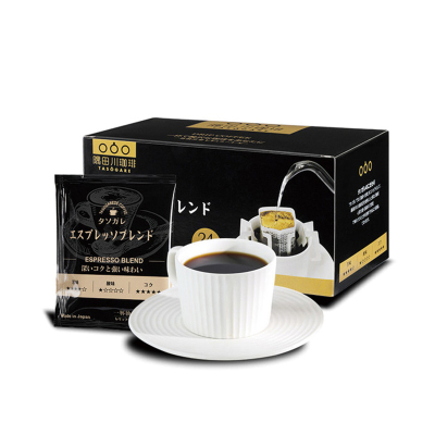 隅田川日本進口意式現磨手沖掛慮特濃掛耳咖啡純黑咖啡粉禮盒24片