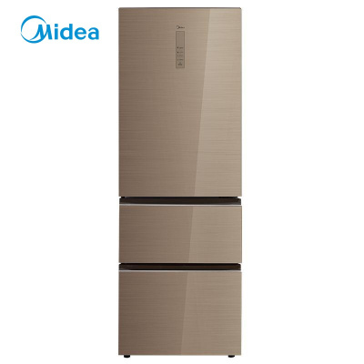 【99新】Midea/美的BCD-326WGPZM 凱撒金 變頻小型三門冰箱326升風冷無霜 智能操控 節能靜音省電