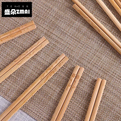 中式竹筷家庭裝快子家用長筷子套裝簡約家用木質筷子組合套裝創意家居筷子-j11