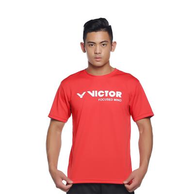 威克多VICTOR/胜利羽毛球服 男女款短袖针织T恤