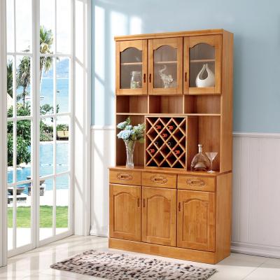 雅兰美斯 酒柜 中式实木酒水柜 橡木餐边柜 餐厅置物柜茶水柜隔断储物柜 特色