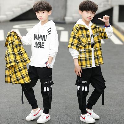MinanSer 【三件套】兒童裝男童秋裝套裝2020款中大童男孩春秋季帥氣韓版三件套潮衣秋季新款