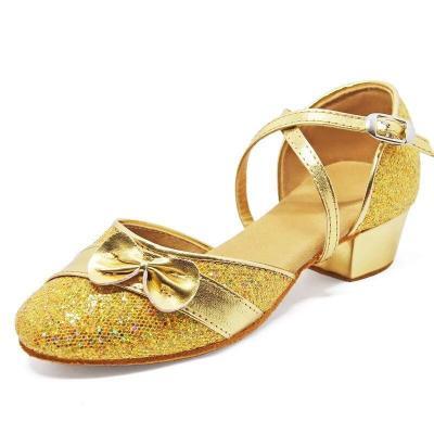女童拉丁舞鞋秋冬款兒童女孩初學者中跟軟底舞蹈鞋少兒練功跳舞鞋