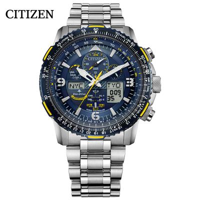 西鐵城(CITIZEN)手表 光動能藍天使二代航空司令運動男表 JY8078-52L