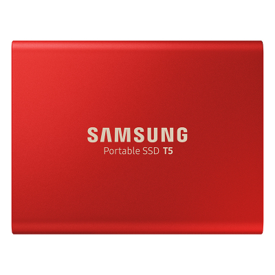 三星(SAMSUNG)移动固态硬盘PSSD T5 500GB USB3.1 1.8英寸 红色版