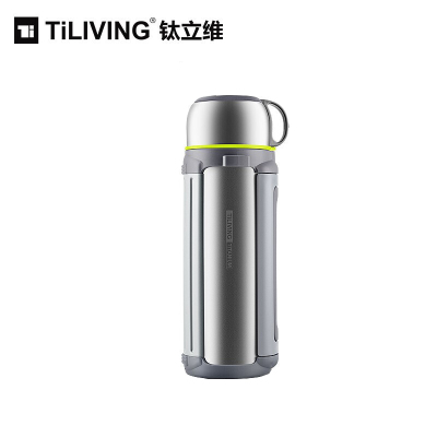 TiLIVING钛立维纯钛超轻保温壶家用车载户外便携大容量旅行壶热水瓶1.8L健康环保TB1800