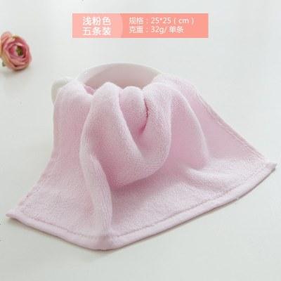 小方巾竹浆竹纤维成人全竹洗脸毛巾儿童擦汗口水面巾5条装