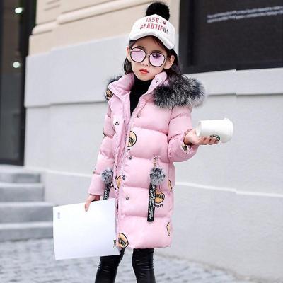 女童棉衣冬款外套中大童加厚加棉棉袄中长款冬季女童棉袄儿童棉服