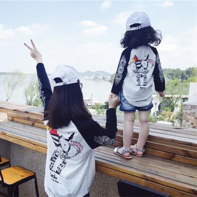 親子裝秋裝嬰兒T恤韓版母子大碼衛衣一家三口長袖兒童情侶裝