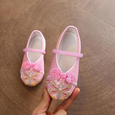 BPMA老北京兒童布鞋女童繡花鞋女古代古裝手工復古漢鞋寶寶舞蹈演出鞋