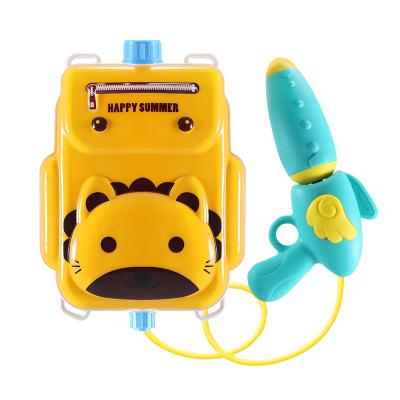 親樂樂 玩具兒童背包水槍 兒童水槍 獅子款 1500ml大容量抽拉式噴水打水仗 男女孩沙灘戲水玩具