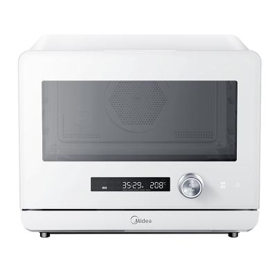美的(Midea)蒸烤箱 20升家用烤箱 1800W大蒸汽 穹頂內腔 蒸汽熱風烘烤 烘焙發酵 S1系列白色 PS2001