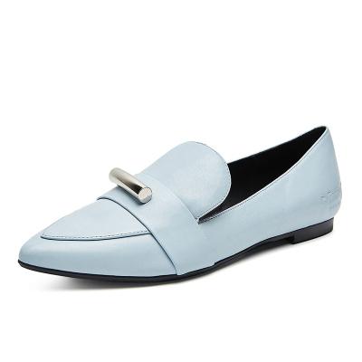 【直营】官方授权Everugg澳洲品牌2019春夏新款JEWEL系列女士尖头方块羊皮乐福鞋单鞋女鞋326002
