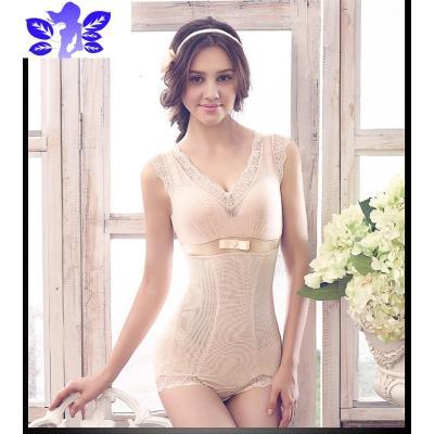 曼舞沙華 性感蕾絲收腹提臀美體舒適透氣薄無痕塑身衣連體衣