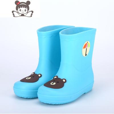 兒童寶寶小孩中大童雨鞋小童學生雨靴防水鞋膠鞋男童女童加絨防滑