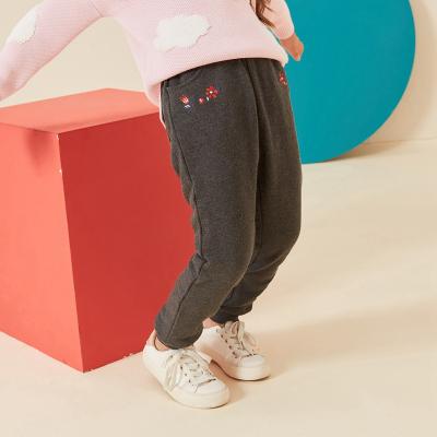 【1件3折價:44.7】moomoo童裝女童褲子新款冬裝洋氣中大兒童夾棉加厚長褲