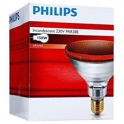 飞利浦红外线理疗灯泡150W 厂家直发家用医用烤灯远理疗灯红外线灯泡仪