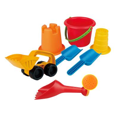 Hape怪力挖沙套装1-6岁沙滩玩具7件套宝宝大号玩沙组合小桶沙漏男孩女孩玩具