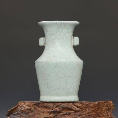 宋 官窑 天青釉 修内司贯耳瓶 古董瓷器古玩古瓷器老物件旧货收藏