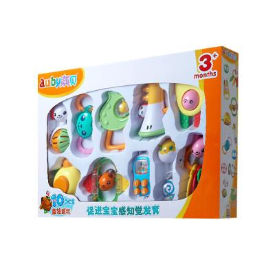 AUBY 澳贝 摇铃系列 10只盒装摇铃塑料玩具 458*72*320 0-6个月463129DS