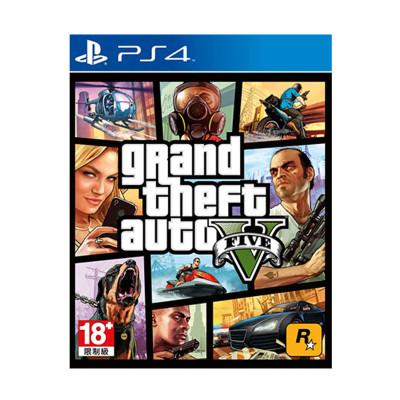 索尼(SONY)PS4 Slim Pro 正版游戲軟件光盤 GTA5 俠盜 獵車手5 三男一狗 中文