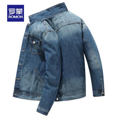 羅蒙(ROMON)男牛仔外套2020春季新款青年韓版潮流翻領百搭帥氣短款夾克衫