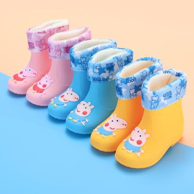 寶寶1-6防滑嬰幼兒童雨鞋男童女童小童雨靴水鞋水靴膠鞋公主可愛 衫伊格(shanyige)