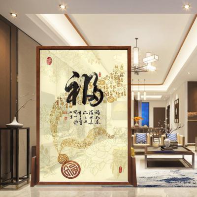 屏风隔断现代简约客厅移动中式简易镂空时尚实木卧室办公半透座屏定制!