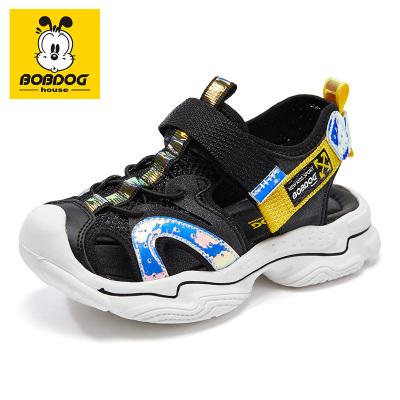 巴布豆BOBDOG HOUSE2020新款夏季男女童學生沙灘鞋中大童韓版包頭防滑兒童涼鞋