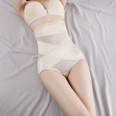 產后后脫式收腹褲女束腰提臀塑形瘦身褲抗菌底襠無痕懶人減肥神器