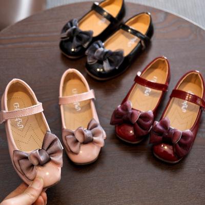 女童皮鞋公主鞋夏款韓版兒童豆豆鞋蝴蝶結寶寶鞋女童鞋單鞋 TCVV