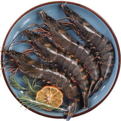 四海生鮮 海捕特級野生黑虎蝦黑節蝦(10-14條)斑節蝦 新鮮海鮮水產 250g/盒 海鮮火鍋食材