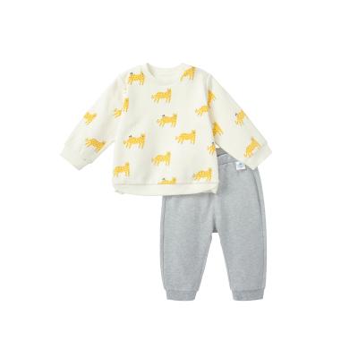 迷你巴拉巴拉男寶寶長袖衛衣衛褲套裝2020秋裝嬰兒寬松可愛童裝