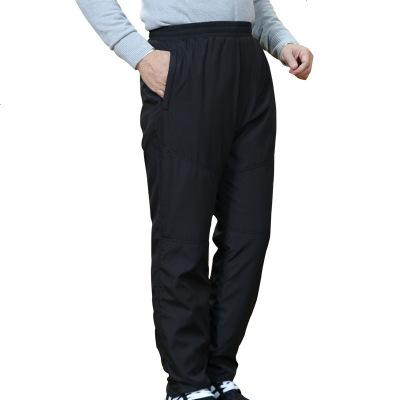 2017秋冬新款中老年羽絨褲男裝外穿加厚保暖中年人棉褲爸爸裝