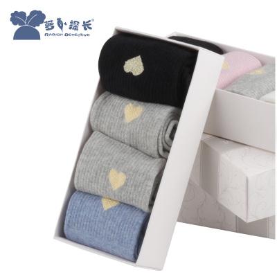 蘿卜探長女士成人襪中筒四季款潮牌女襪子精致禮盒裝四雙裝