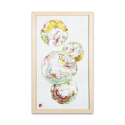 青年画师 邹国豪《蝶恋花》