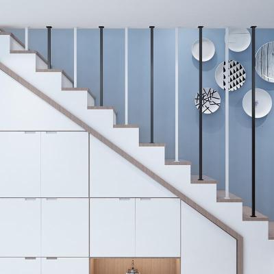 简约现代楼梯扶手室内隔断防护栏杆北欧铁艺家用阁楼围栏 I型上下对装