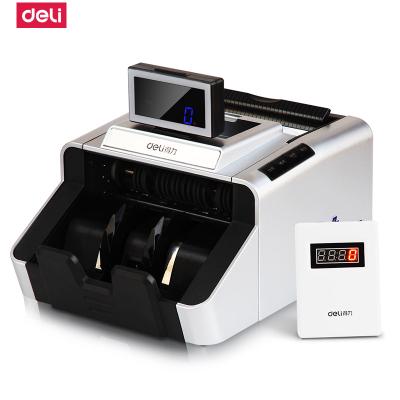 得力deli3919S點鈔機銀行專用B類驗鈔機旋轉顯示器 超大點鈔輪真正雙主板支持2019新幣真人語音點鈔機/USB升級