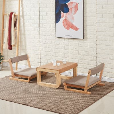 床上无腿椅榻榻米凳子和室椅榻榻米座椅榻榻米靠背椅日式懒人椅子