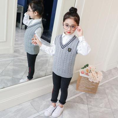 男童女童背心毛衣針織馬甲2019春學生嬰兒套頭寶寶兒童小中大童裝
