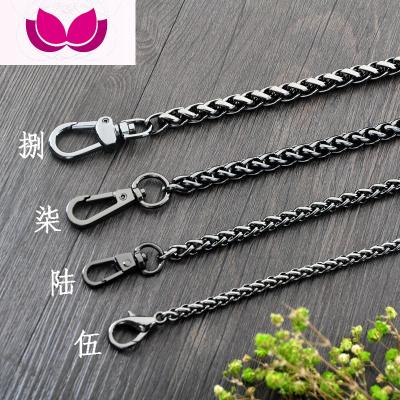 七斕黑色燈籠鏈包鏈條配件包包鏈子女包肩帶金屬包鏈包帶子斜挎