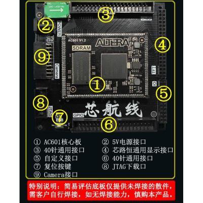 適用于AC601 FPGA郵票孔核心板專用簡易評估底板