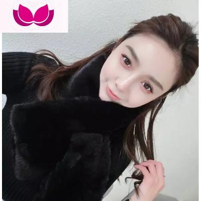 冬季促銷韓版百搭毛絨圍脖情侶學生青少年兒童保暖仿皮圍巾