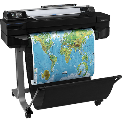 惠普(HP)Designjet T520 大幅面打印机 CAD工程绘图仪 24英寸 A1绘图仪 无线wifi