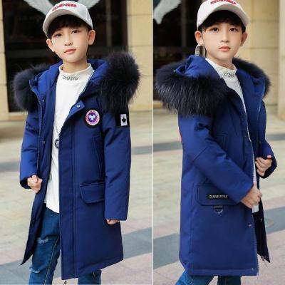 兒童運動羽絨服男童中長款中大童正品韓版青少年加厚童裝冬裝迷彩外套 莎丞